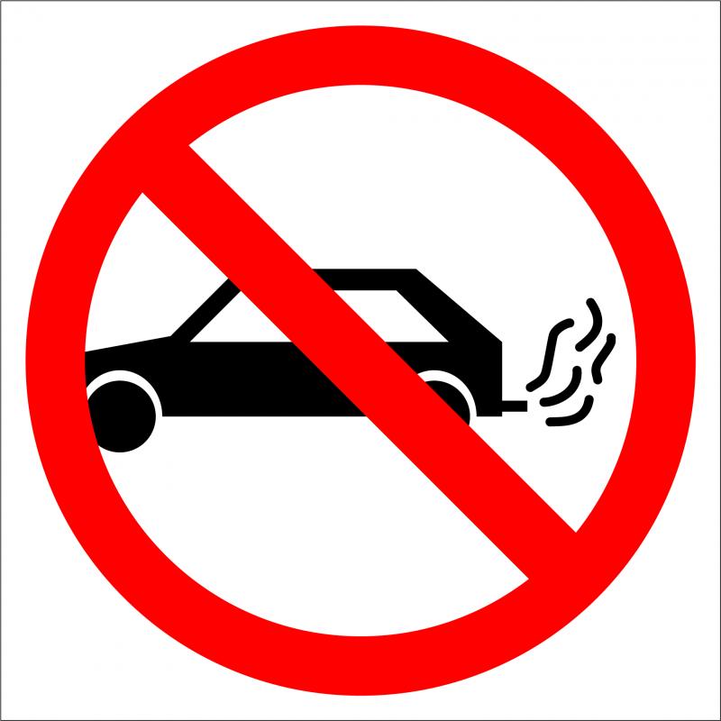 Cartel Prohibido Motor Encendido