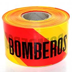 Rollo Cinta de Señalización Bomberos Rojo/Amarillo 250m - 10cm