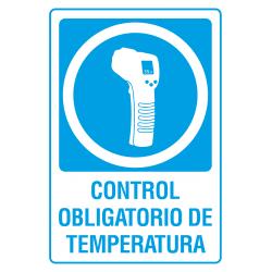 Cartel Control Obligatorio de Temperatura