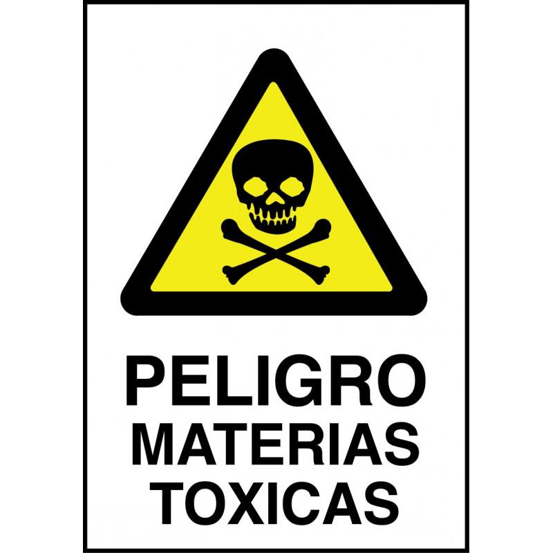 Cartel Peligro Materias Tóxicas