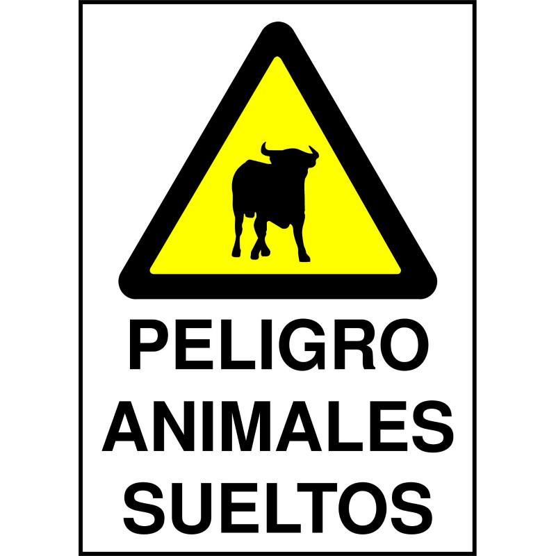 Cartel Peligro Animales Sueltos - Toro