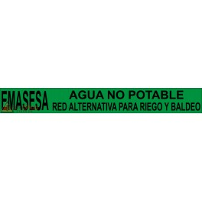 Rollo Cinta Emasesa - Agua No Potable. Red Alternativa para Riego y Baldeo - Verde 250m.