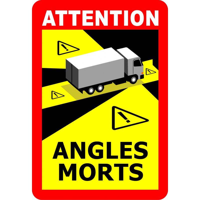 Pegatina Attention Angles Morts - Ángulos Muertos para Camión o Bus
