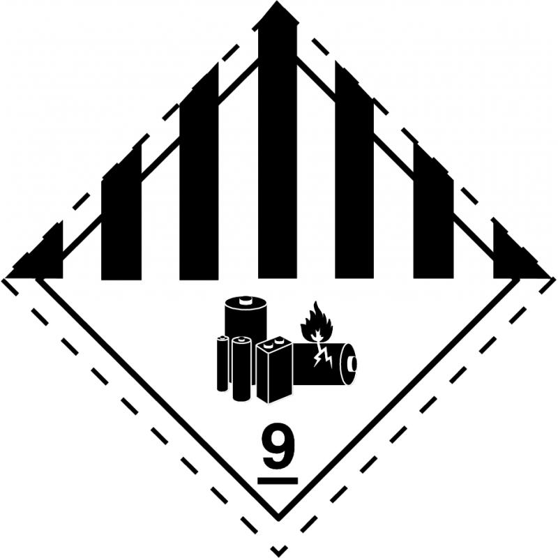 Pegatina ADR Clase 9A - Baterías de Litio