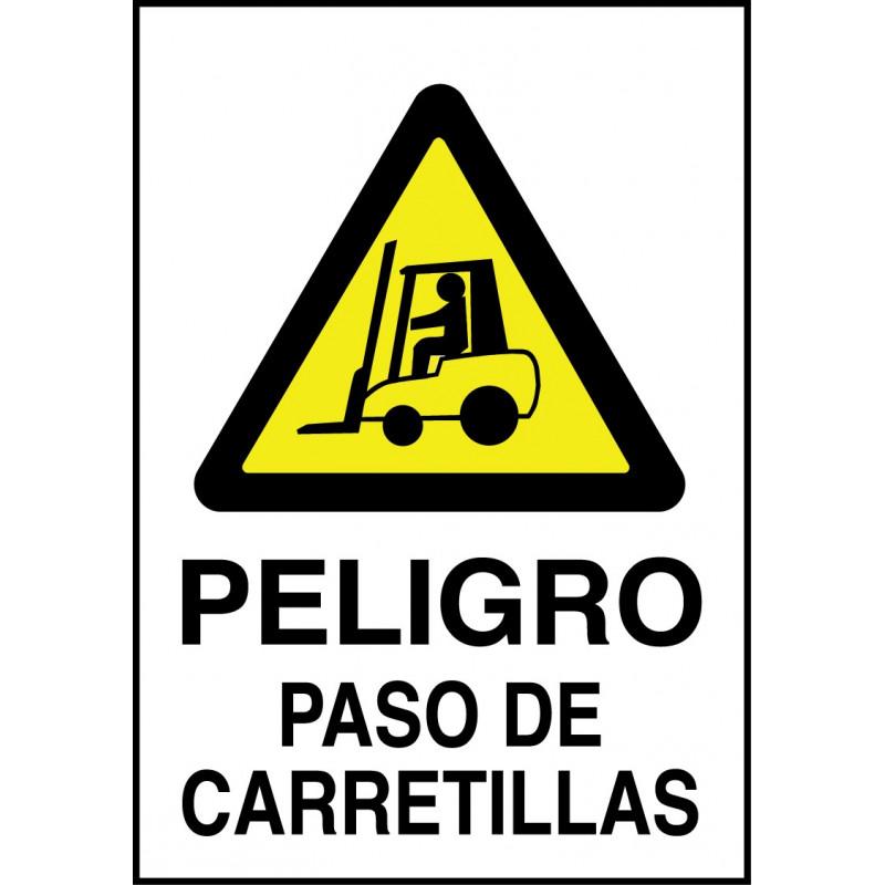 Cartel Peligro Paso de Carretillas