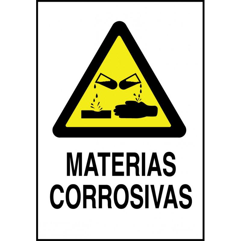 Cartel Materias Corrosivas
