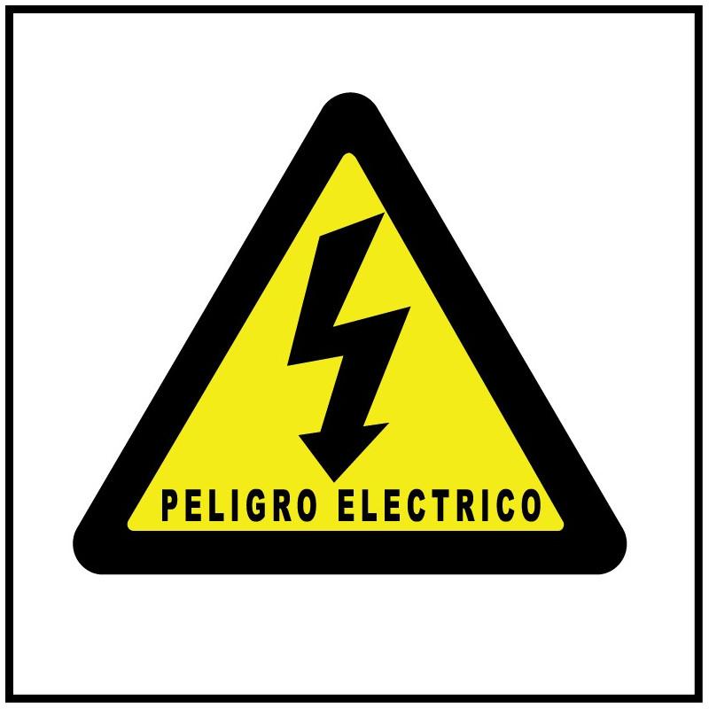 Cartel Peligro Eléctrico - Cuadrado