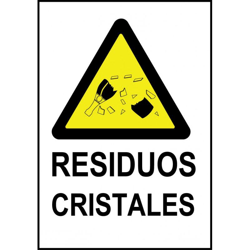 Cartel Residuos Cristales