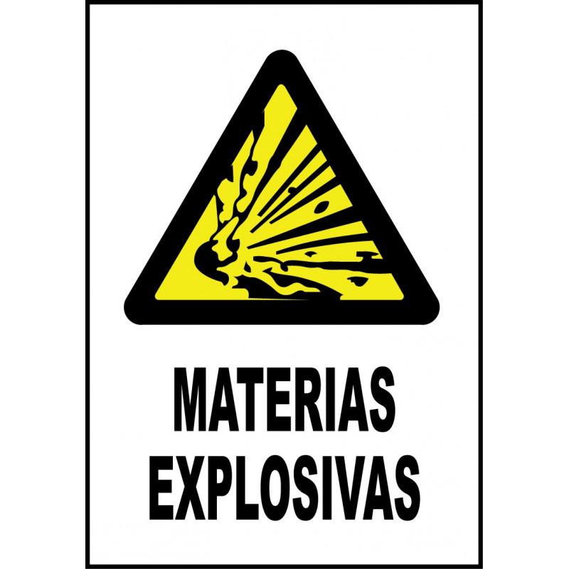 Cartel Materias Explosivas