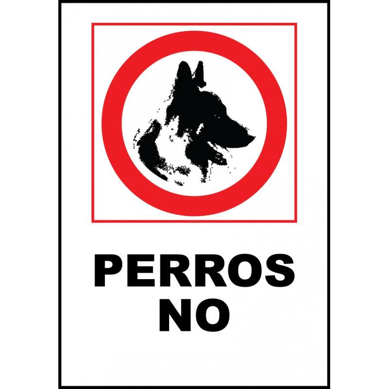 Cartel Perros No - Prohibición