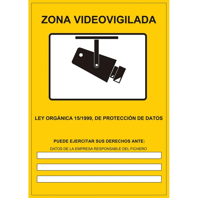 Cartel Zona Vídeo Vigilada - Datos Empresa