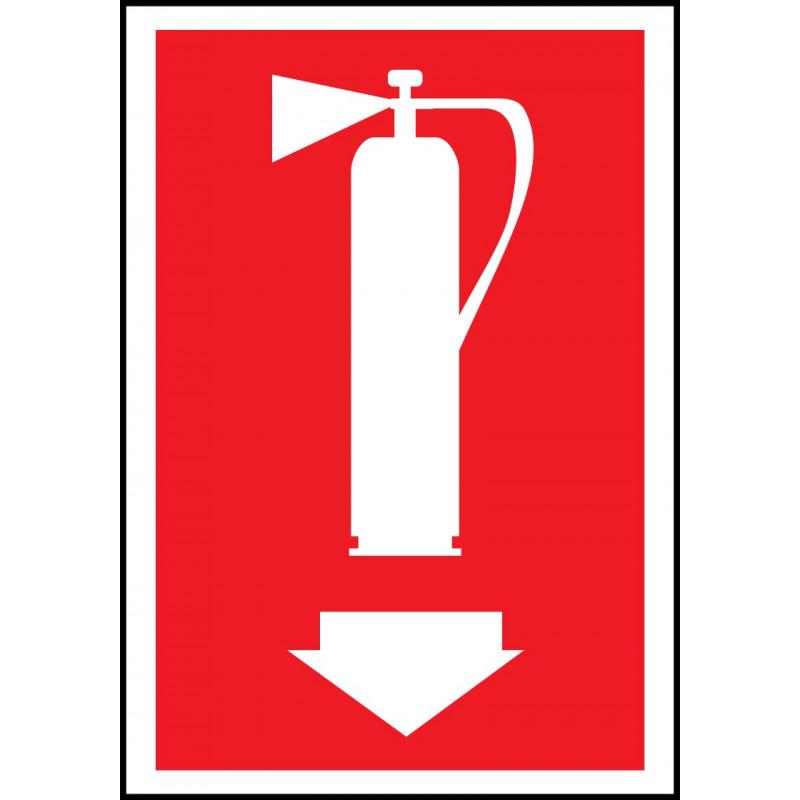 Cartel Extintor - Flecha Abajo