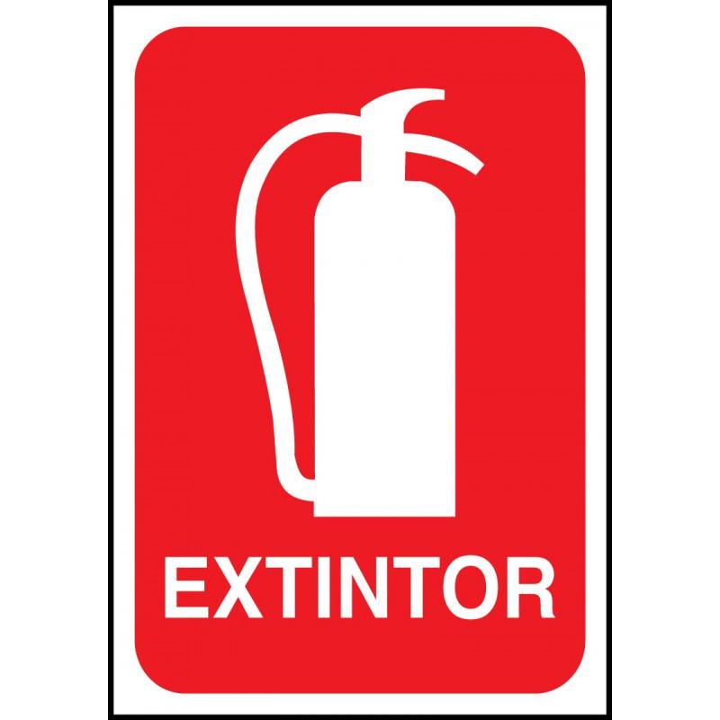 Cartel Extintor - Rojo