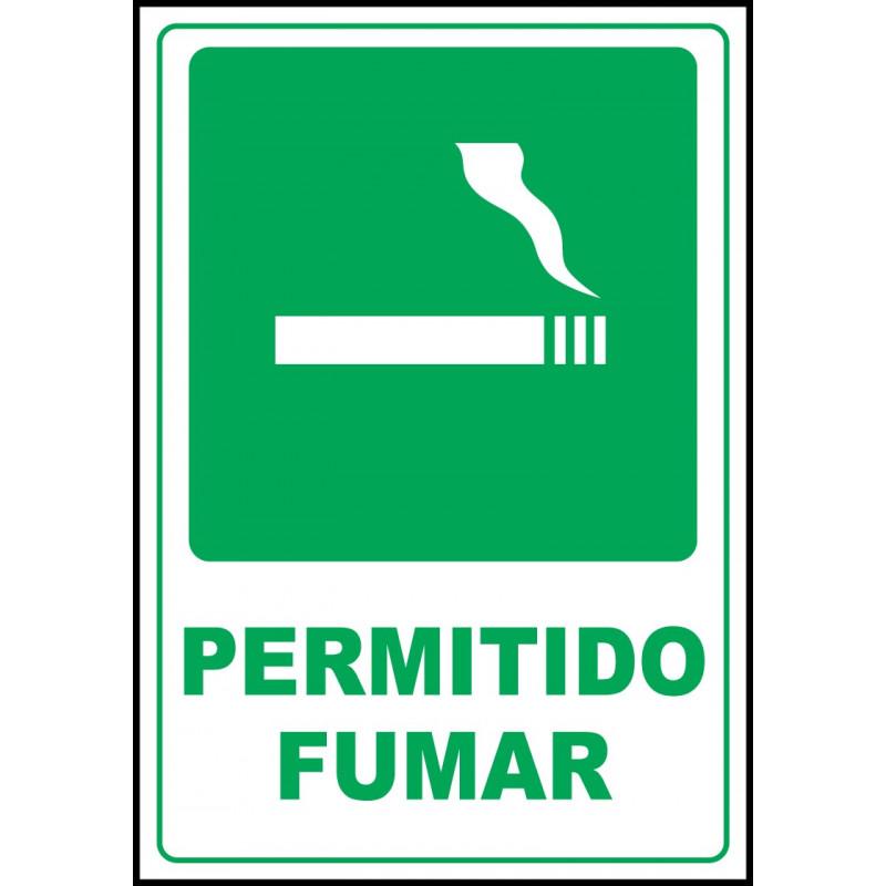 Cartel Permitido Fumar