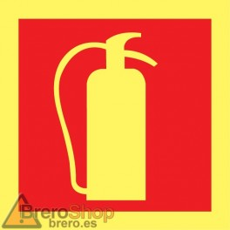 Cartel Fotoluminiscente Extintor Cuadrado