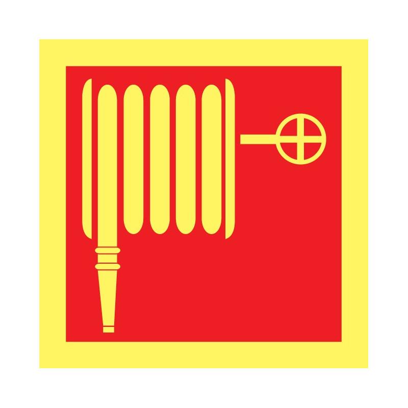 Cartel Fotoluminiscente Manguera de Incendios