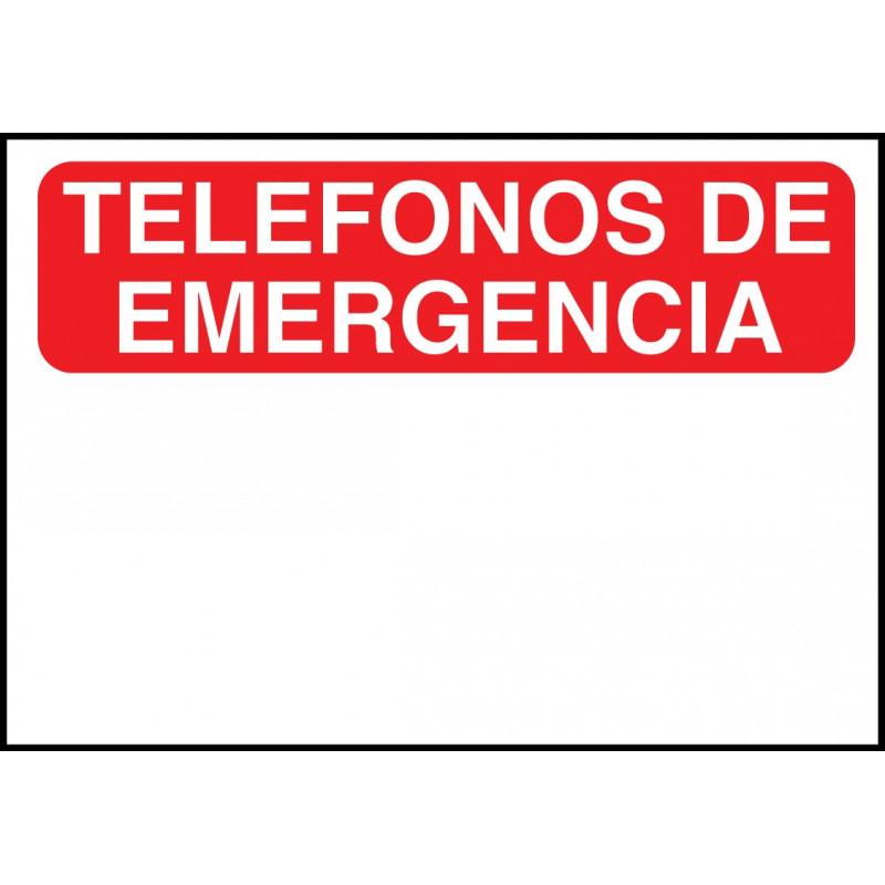 Cartel Teléfonos de Emergencias