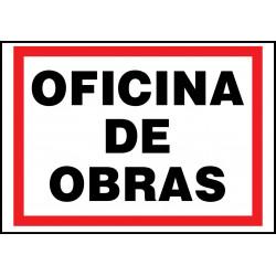 Cartel Oficina de Obras