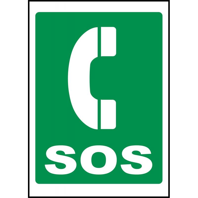 Cartel Teléfono SOS