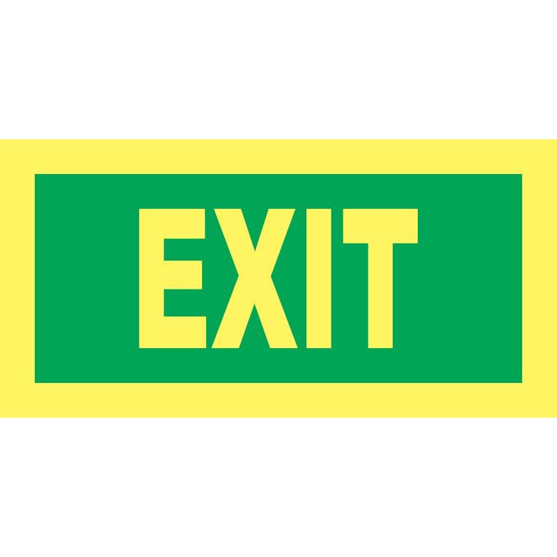 Cartel Fotoluminiscente Exit
