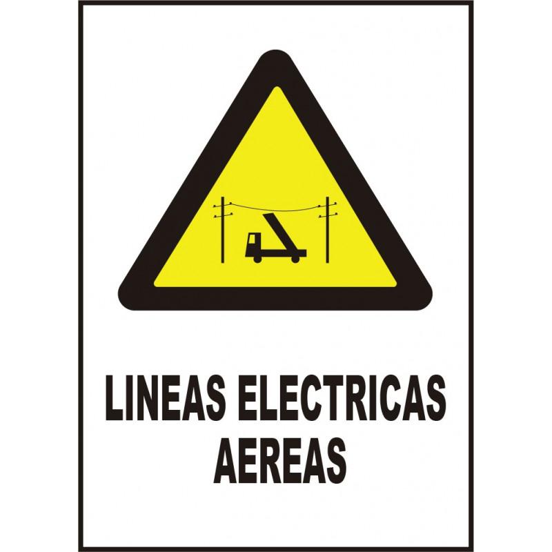 Cartel Líneas Eléctricas Aéreas