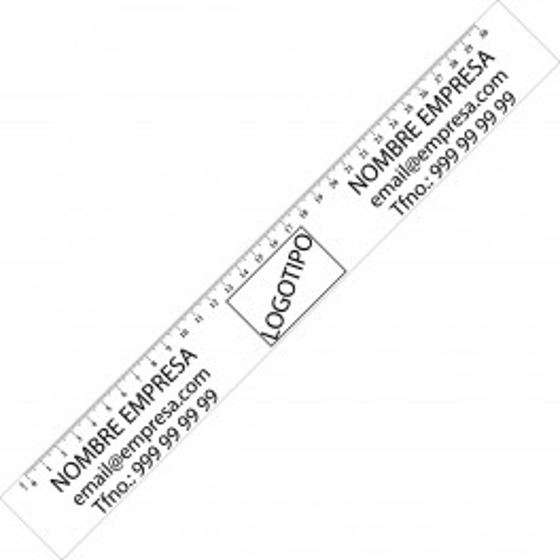 Regla Personalizada transparente 30cm.