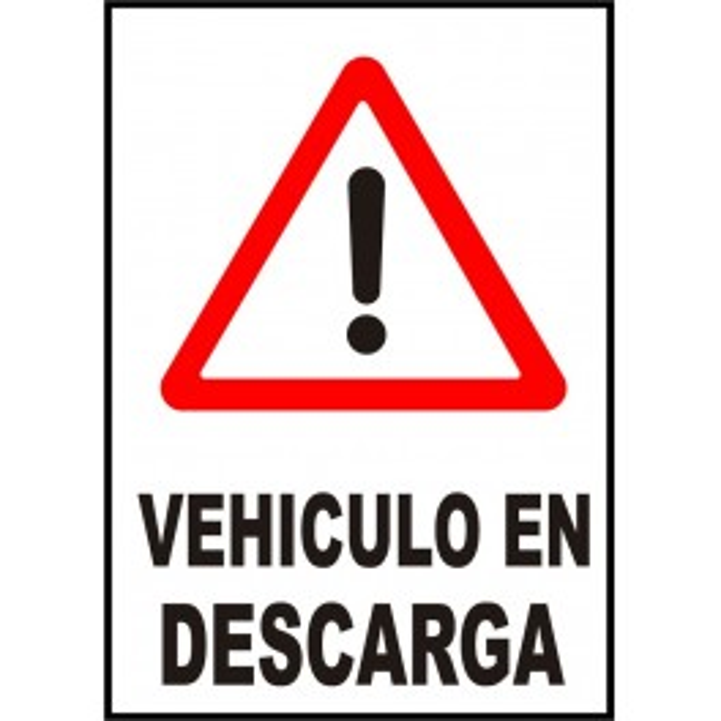 Cartel Vehículo en Descarga
