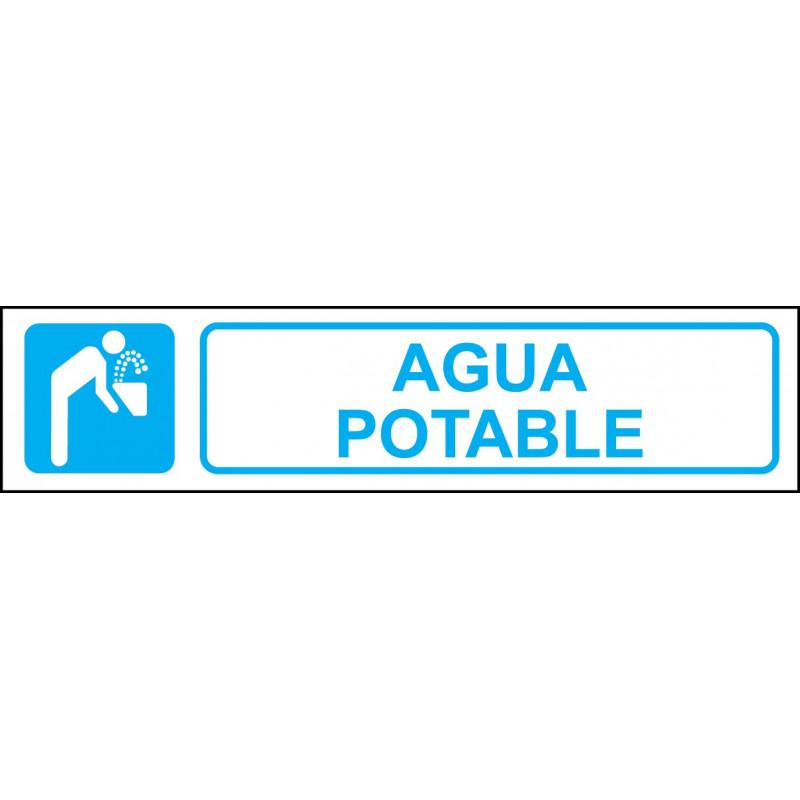Cartel Horizontal Agua Potable