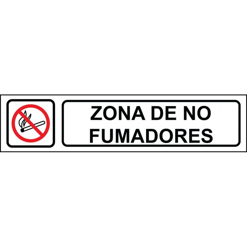 Cartel Horizontal Zona de No Fumadores