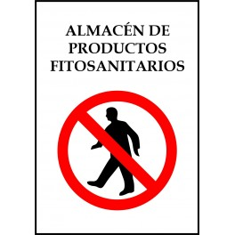 Cartel Almacén de Productos Fitosanitarios