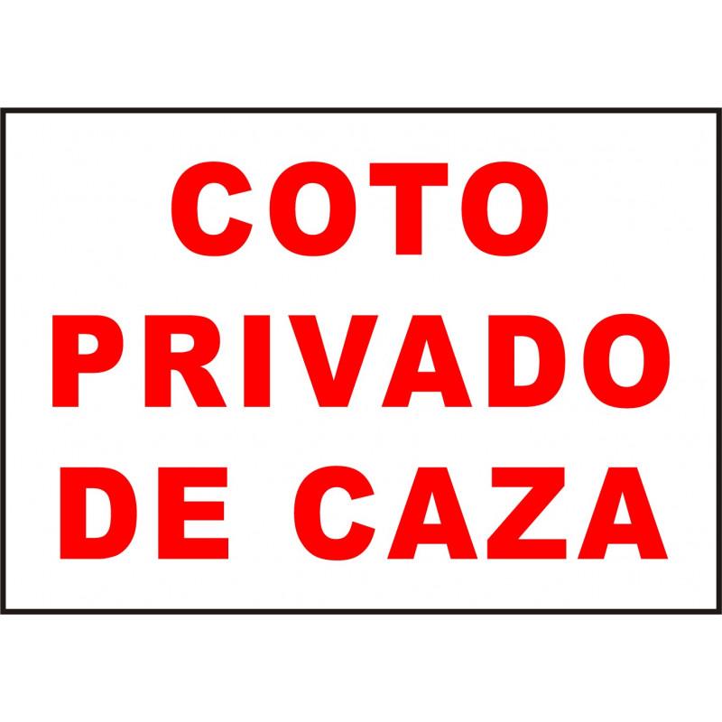 Cartel Coto Privado de Caza
