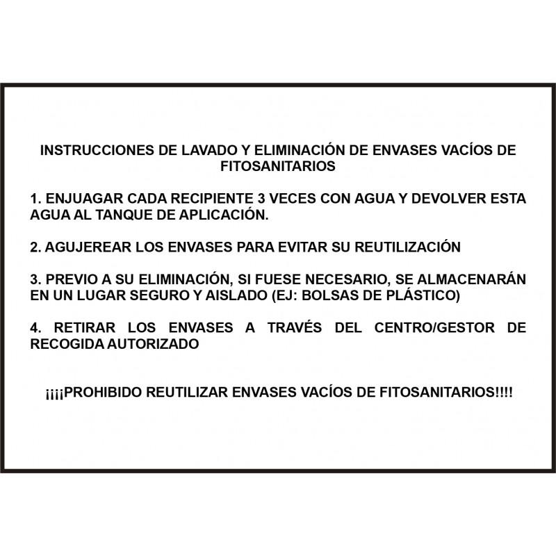 Cartel Instrucciones de Lavado de Envases Fitosanitarios