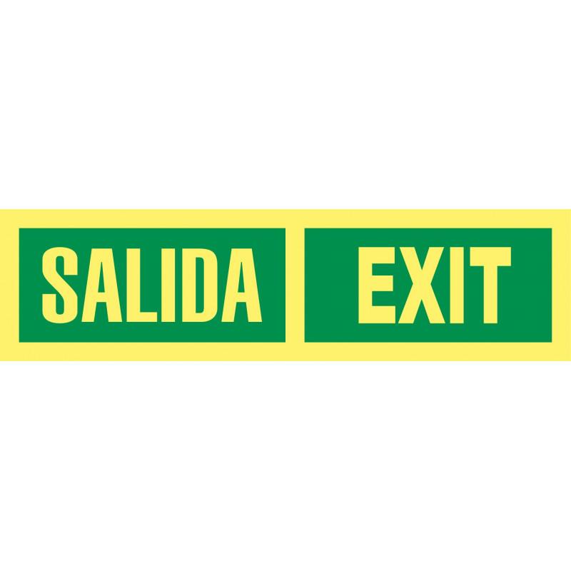 Cartel Fotoluminiscente Salida - Exit