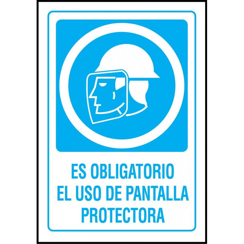 Cartel Es Obligatorio el Uso de Pantalla Protectora