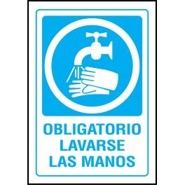 Cartel Obligatorio Lavarse las Manos