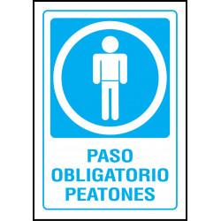 Cartel Paso Obligatorio Peatones
