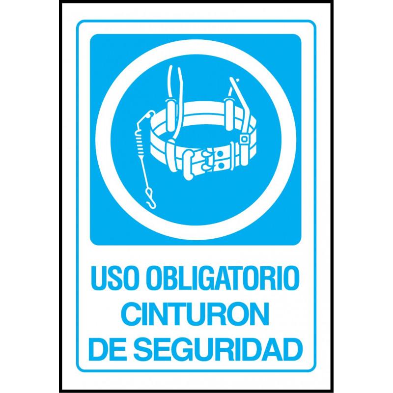 Cartel Uso Obligatorio Cinturón de Seguridad - Arnés