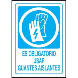 Cartel Es Obligatorio Usar Guantes Aislantes