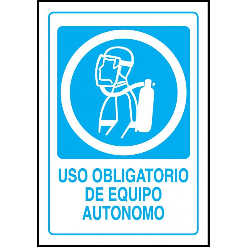 Cartel Uso Obligatorio de Equipo Autónomo