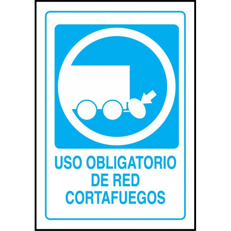 Cartel Uso Obligatorio de Red Cortafuegos