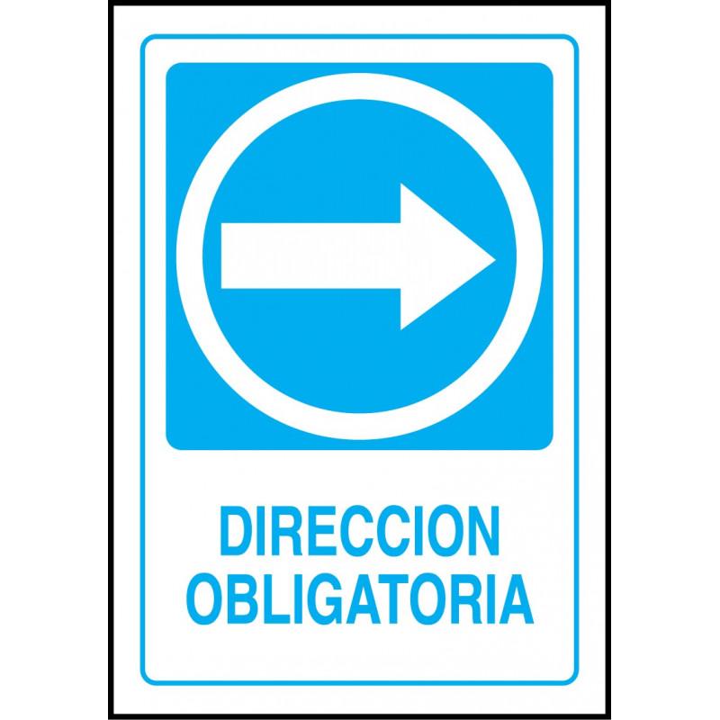 Cartel Dirección Obligatoria - Derecha