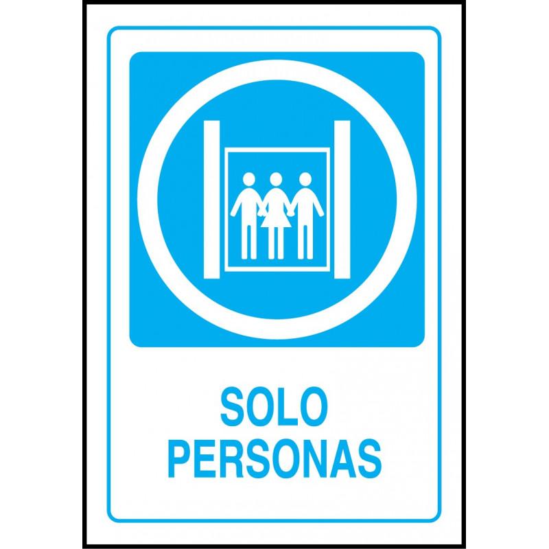 Cartel Solo Personas