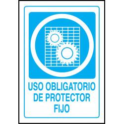 Cartel Uso Obligatorio de Protector Fijo