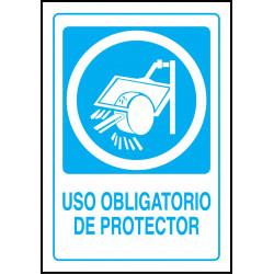 Cartel Uso Obligatorio de Protector