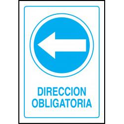 Cartel Dirección Obligatoria - Izquierda