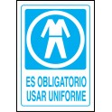 Cartel Es Obligatorio Usar Uniforme