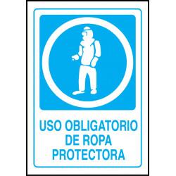 Cartel Uso Obligatorio de Ropa Protectora