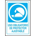 Cartel Uso Obligatorio de Protector Ajustable