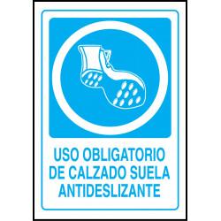 Cartel Uso Obligatorio de Calzado Suela Antideslizante