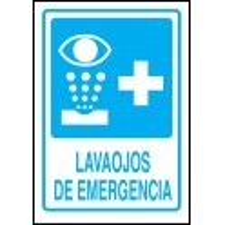 Cartel Lavaojos de Emergencia